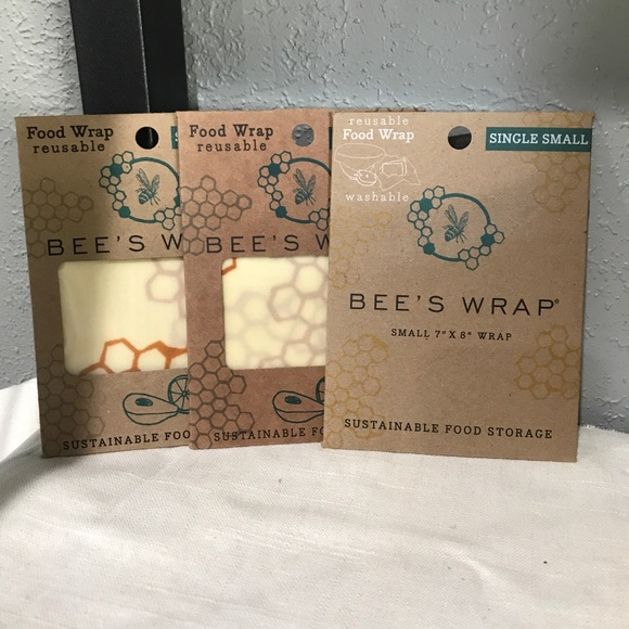 Other - Beeswraps Beeswax Reusable Food Wraps set of 3 SM